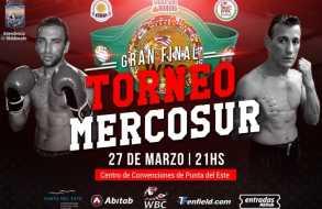 Gala de boxeo en el Centro de Convenciones por título del Mercosur del CMB