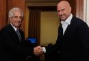 El presidente Tabaré Vázquez recibió en su despacho al empresario Giuseppe Cipriani