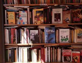 Solo un rincón de la cálida biblioteca del barrio Presidente Kennedy de Punta del Este