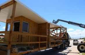 Comenzó instalación de las 86 casetas de guardavidas en la costa de Maldonado